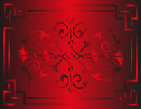 Роскошь винтажной королевской предпосылки красная флористическая Стоковые Изображения RF