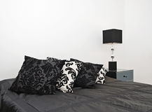 роскошь детали спальни Стоковое фото RF