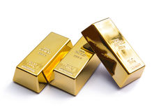 Роскошь 3 золотого ингота Стоковое Изображение RF