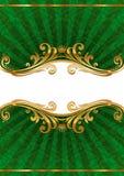 роскошь иллюстрации рамки золотистая богато украшенный Стоковое Фото