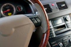 роскошь интерьера автомобиля Стоковое фото RF