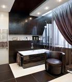 роскошь интерьера ванной комнаты Стоковое фото RF