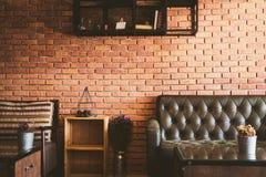 Роскошь, красивая стиля живущей комнаты винтажного Стоковые Фотографии RF