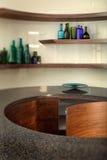 роскошь кухни конструкции шикарная нутряная стоковые изображения
