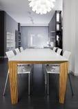 роскошь кухни конструкции шикарная нутряная стоковая фотография