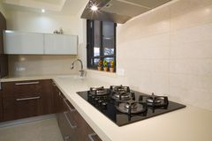 роскошь кухни конструкции Стоковые Фотографии RF