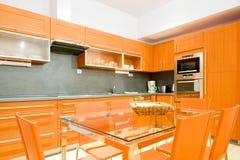 роскошь кухни самомоднейшая Стоковые Фотографии RF