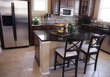 роскошь кухни самомоднейшая Стоковое Фото