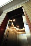 роскошь лифта двери открытая Стоковое фото RF