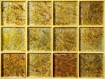 Роскошь обоев квадратного блока золота мозаики Стоковое Изображение