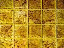 Роскошь обоев квадратного блока золота мозаики Стоковые Изображения