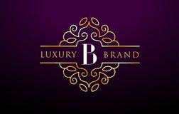 Роскошь логотипа письма b Королевский дизайн вензеля бесплатная иллюстрация