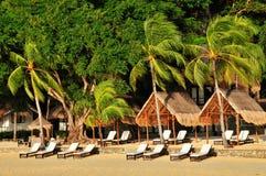 роскошь пляжа экзотическая Стоковое Изображение