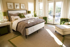 роскошь спальни домашняя Стоковые Фотографии RF