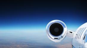 роскошь двигателя самолета приватная Стоковая Фотография RF