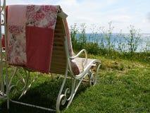 Роскошь sunbed на пляже Стоковые Фотографии RF