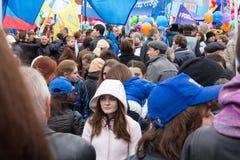 05/01/2015 Россий, Москва Демонстрация на красной площади Трудовой da Стоковое Изображение