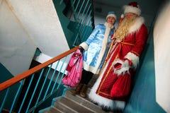 Россия, город Магнитогорск, - 3-ье января 2012 Славянское Санта стоковая фотография