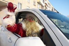 Россия, город Магнитогорск, - 3-ье января 2012 Славянское Санта c стоковые фото