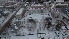 Россия, ландшафты зимы Yakutia в России сток-видео