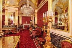 Грандиозный интерьер дворца Кремля Стоковое фото RF