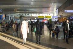 Россия, Москва, интерьеры авиапорта Sheremetyevo Стоковые Изображения