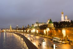 Россия, Москва, Кремль в вечере Стоковые Фотографии RF