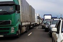 Россия, Москва, 30-ое апреля 2018, на шоссе автомобиля в движении, редакционном Стоковые Фотографии RF