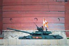 Россия, Москва, 7-ое мая 2016 - репетиция военного парада i Стоковая Фотография