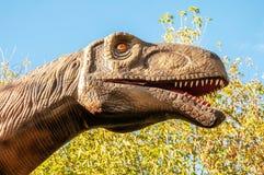 Россия, Москва - 29-ое сентября 2018: Голова динозавра стоковая фотография rf