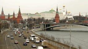 Россия, Москва, панорама Кремля видеоматериал