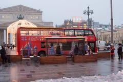 Россия, Москва, рождество и Новый Год в Москве Стоковые Изображения