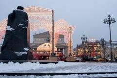 Россия, Москва, рождество и Новый Год в Москве Стоковое Изображение