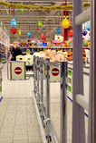 РОССИЯ - 12-ОЕ ДЕКАБРЯ 2015: Вход к супермаркету в Petro Стоковые Фото