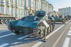 Россия, Санкт-Петербург, 10-ое августа 2017 - t-60 на Pala Стоковые Фотографии RF