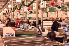 Россия, Санкт-Петербург, 01,03,2014 человек на проверке в Стоковые Фото