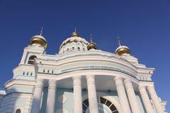 Россия. Саранск. Собор ` s St. Theodor Ushakov во время зимы стоковые фото