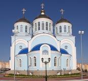 Россия Саранск Церковь в центре города стоковое изображение