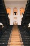 Россия, Саратов, музей Radishchev, грандиозное stairca литого железа Стоковое Фото