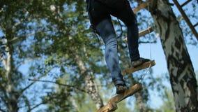 Россия, Сибирь 2014: Парк веревочки Парк приключения в лесах акции видеоматериалы