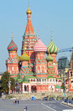 Россия собор базилика St солнечный свет красной площади Москвы Кремля Стоковое Фото
