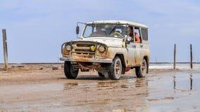 Россия Baskunchak Озеро сол Astrahan Десерт Стоковые Фото