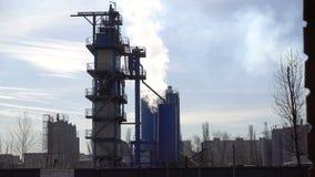 Россия moscow 08 Апрель 2018 курить печных труб промышленный Куря электростанция сток-видео