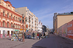 Россия moscow Улица Arbat Стоковое Изображение RF