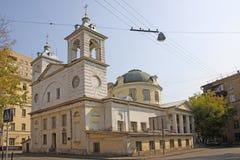 Россия moscow Церковь предположения благословленного virgin на Mogilco стоковое фото rf