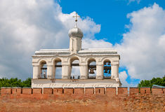 Россия novgorod церков аукциона предположения veliky Колокольня собора St Sophia Стоковое Изображение