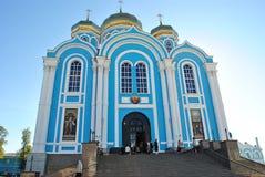 Россия, Zadonsk, 25-ое августа 2017, монастырь для людей Стоковое Фото