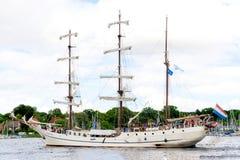 Росток, Германия - август 2016: парусное судно Artemis Стоковые Фотографии RF