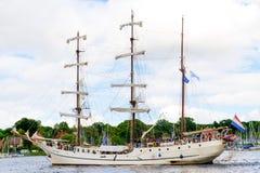 Росток, Германия - август 2016: парусное судно Artemis Стоковые Изображения RF