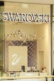 РОСТОК, ГЕРМАНИЯ - 12-ОЕ МАЯ 2016: Shopwindow магазина Swarovski Стоковые Фото